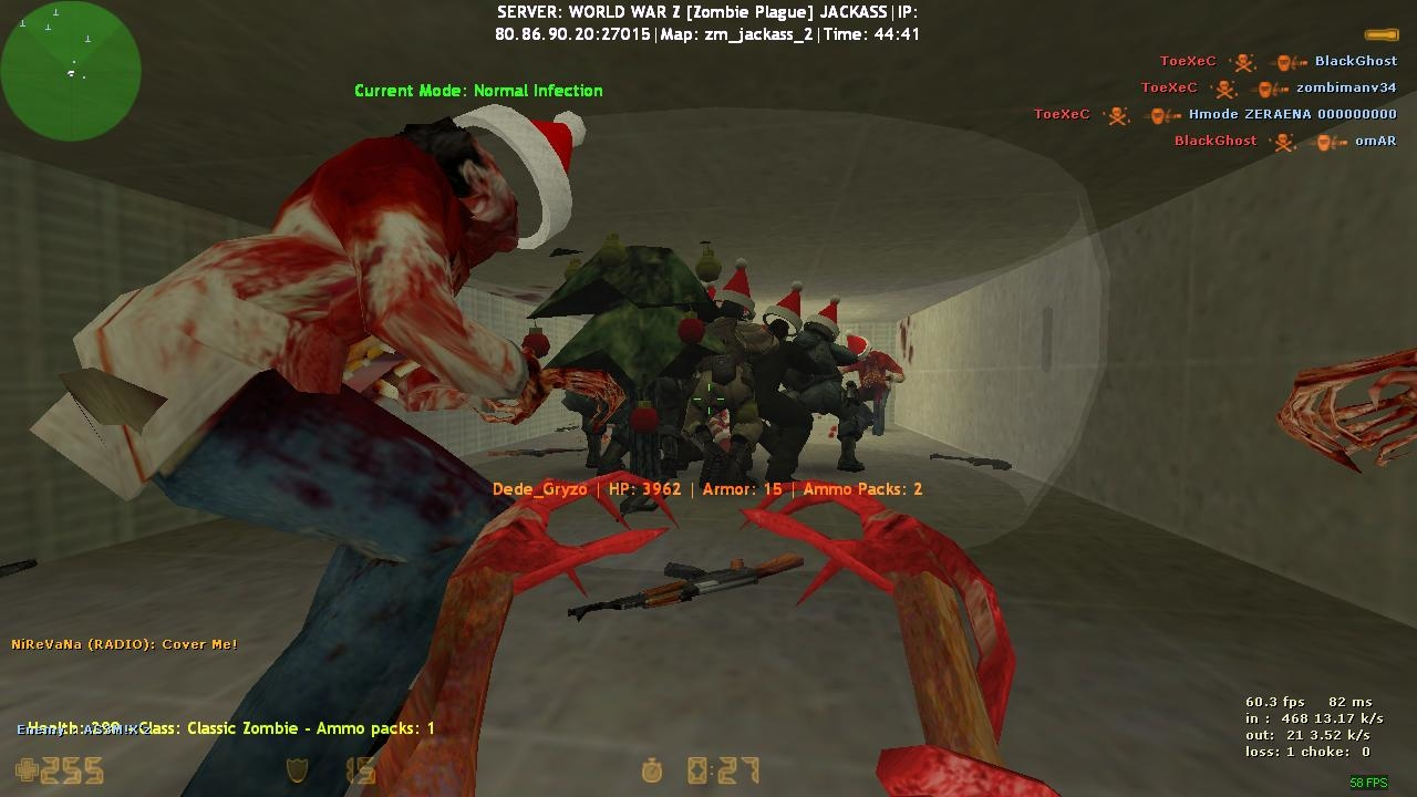cs 1 6 perfect zombie plague server lasermine 12 zombie class new