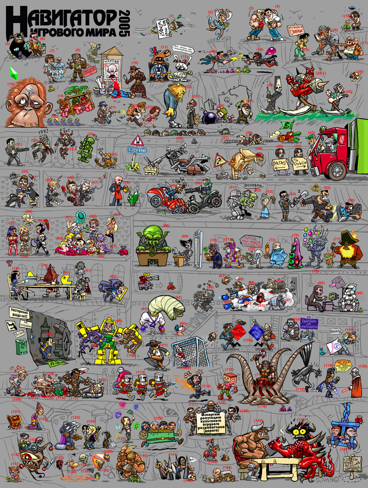 Game character names list