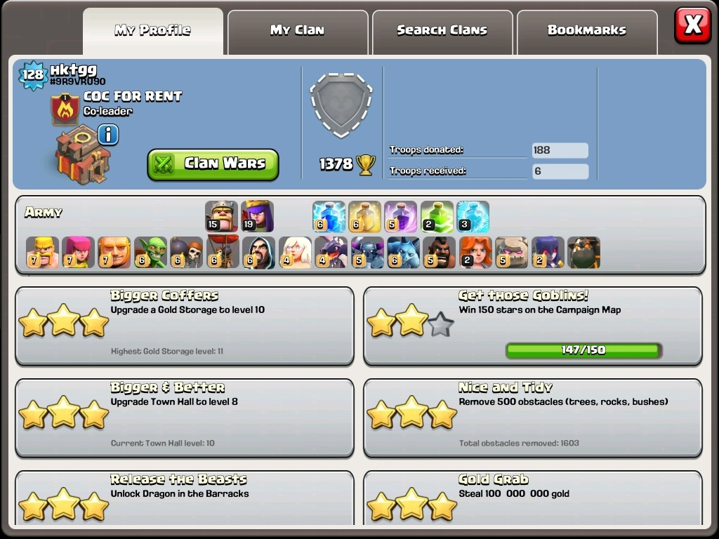 Selling (40) Clash of Clans accounts! - Check my clan